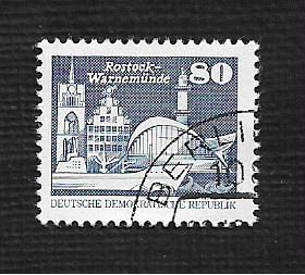 Germany DDR Used Scott #2082 Catalog Value $.50