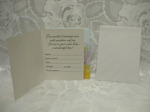 It's A Boy Pack of 8 Announcement Cards And Envelopes Forget Me Not