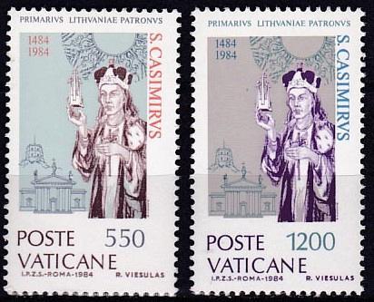 [VC0731] Vatican City: Sc. no. 731-732 (1984) MNH full set