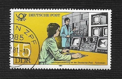 Germany DDR Used Scott #2163 Catalog Value $.25