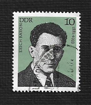 Germany DDR Used Scott #2166 Catalog Value $.25