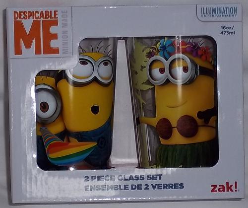 Despicable Me Minions 2 piece 10 oz glass set