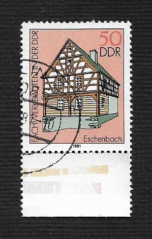 Germany DDR Used Scott #2203 Catalog Value $.25