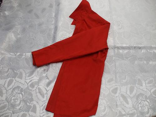 Eleganza Junior Red Long Sleeve Buttoned Shirt Size 10