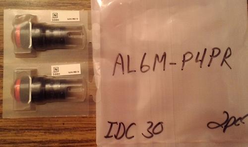 Lot of 2: Idec AL6M-P4PR Red Industrial Panel Mount Indicators