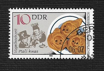 Germany DDR Used Scott #2279a Catalog Value $.25