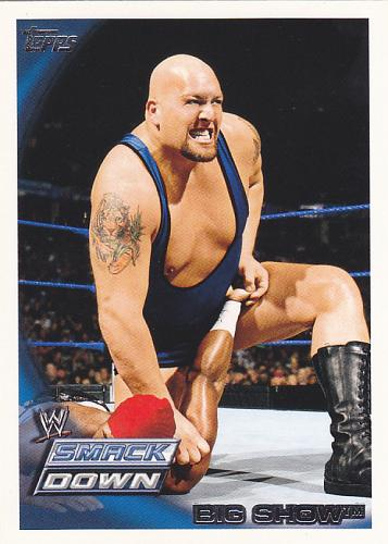 Big Show #22 - WWE 2010 Topps Wrestling Trading Card