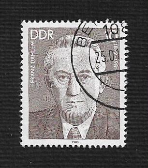 Germany DDR Used Scott #2314 Catalog Value $.25