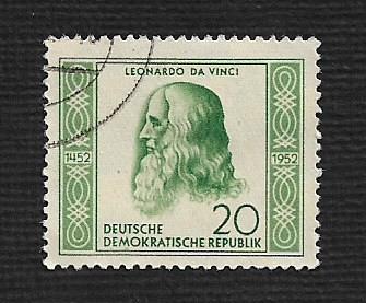 German DDR Used Scott #104 Catalog Value $2.75