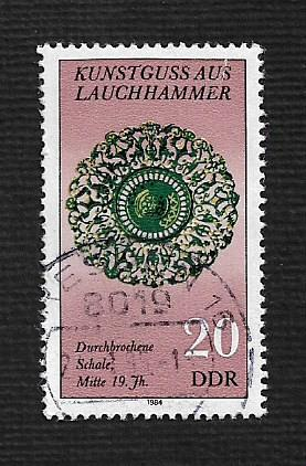 German DDR Used Scott #2412 Catalog Value $.25