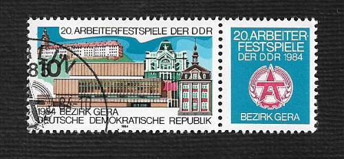 German DDR Used Scott #2418 Catalog Value $.25
