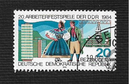 German DDR Used Scott #2419 Catalog Value $.25