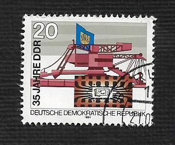 German DDR Used Scott #2428 Catalog Value $.30