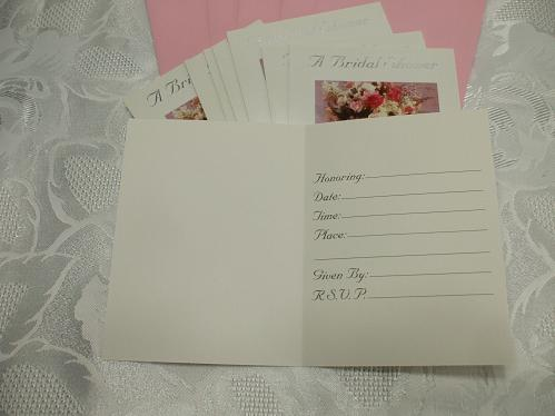 Carlton Cards Bridal Shower Invitation Pack Of 8 Cards With Envelopes