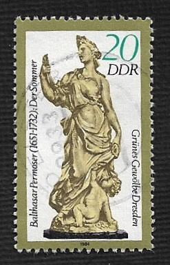Germany DDR Used Scott #2444 Catalog Value $.25