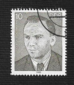 Germany DDR Used Scott #2452 Catalog Value $.25