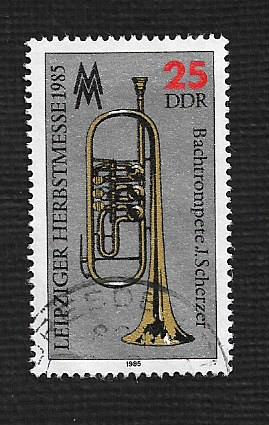 German DDR Used Scott #2493 Catalog Value $.25