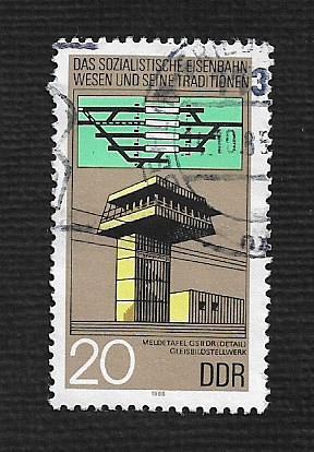 German DDR Used Scott #2496 Catalog Value $.25