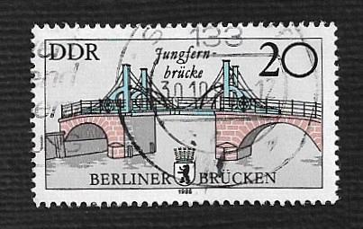 German DDR Used Scott #2501 Catalog Value $.25