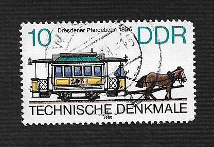 German DDR Used Scott #2538 Catalog Value $.25