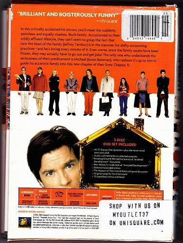 Arrested Development - Complete 1st Season DVD 2009, 3-Disc Set - Good