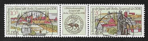 German DDR Used Scott #2554a Catalog Value $.65
