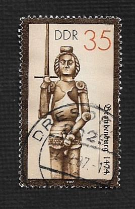German DDR Used Scott #2581 Catalog Value $.30