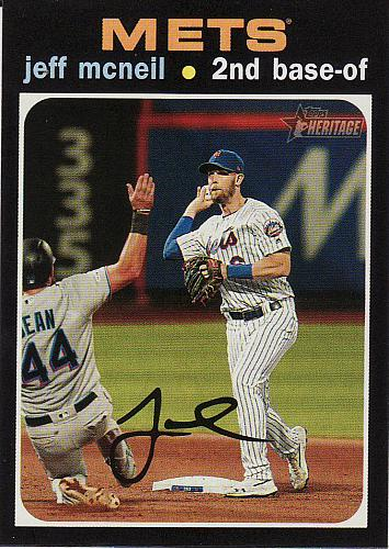 2020 Topps Heritage #492 - Jeff McNeil - Mets