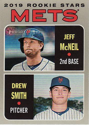 2019 Topps Heritage #348 - Jeff McNeil - Drew Smith - Mets