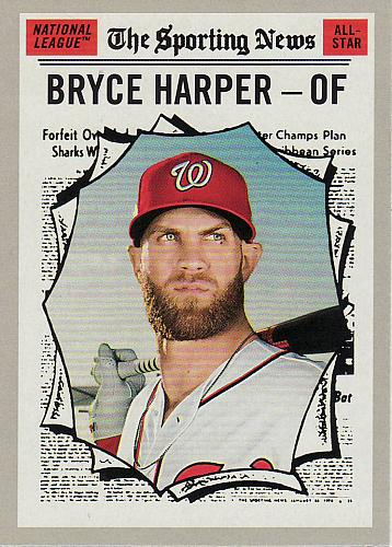 2019 Topps Heritage #367 - Bryce Harper AS - Nationals