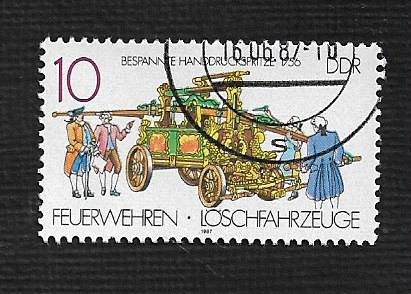German DDR Used Scott #2613 Catalog Value $.25