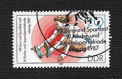 German DDR Used Scott #2624 Catalog Value $.25