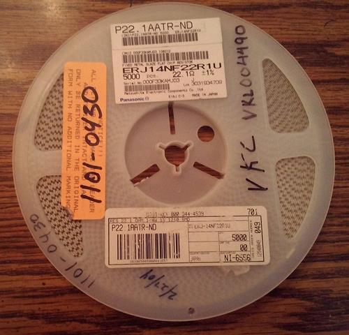 Lot of 5000 ?: Panasonic ERJ14NF22R1U Resistors