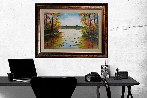 Autumn Landscape Original Oil Painting Contemporary Art Palette Knife Impasto
