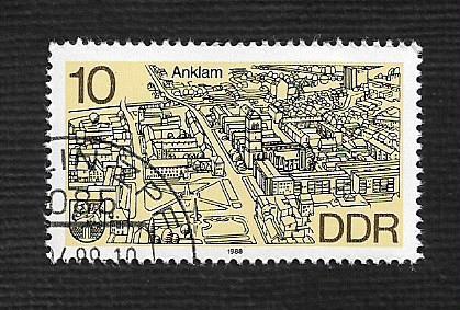 German DDR Used Scott #2669 Catalog Value $.25