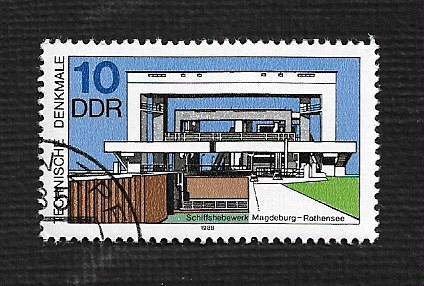 German DDR Used Scott #2708 Catalog Value $.25