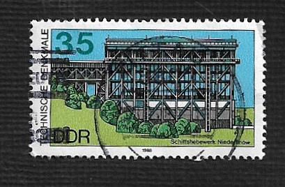 German DDR Used Scott #2709 Catalog Value $.25