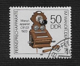 German DDR Used Scott #2727 Catalog Value $.40