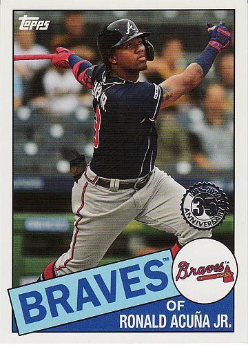 2020 Topps '85 Topps #12 - Ronald Acuna Jr. - Braves