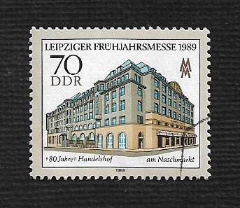 German DDR Used Scott #2734 Catalog Value $.50