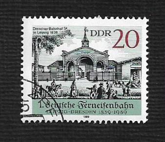 German DDR Used Scott #2738 Catalog Value $.25