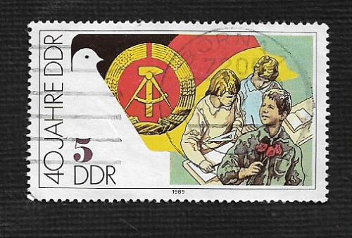 German DDR Used Scott #2776 Catalog Value $.25