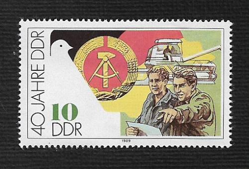 German DDR MNH Scott #2777 Catalog Value $.25