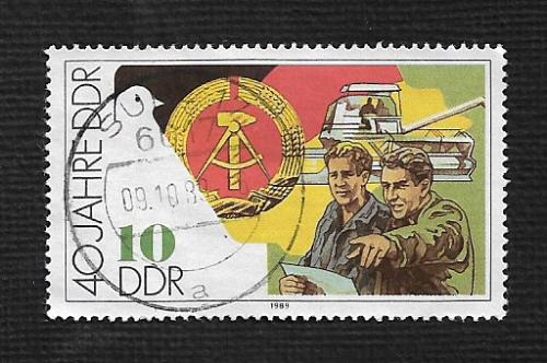 German DDR Used Scott #2777 Catalog Value $.25