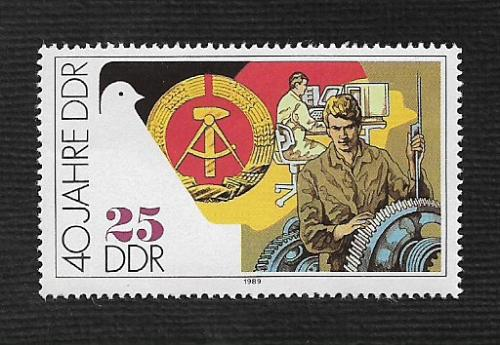 German DDR MNH Scott #2779 Catalog Value $.30