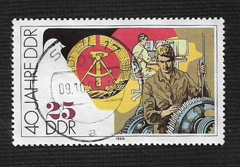 German DDR Used Scott #2779 Catalog Value $.30