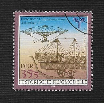 German DDR Used Scott #2801 Catalog Value $.40