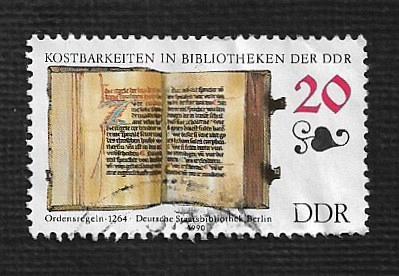 German DDR Used Scott #2828 Catalog Value $.25