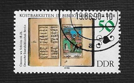 German DDR Used Scott #2830 Catalog Value $.60