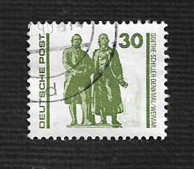 German DDR Used Scott #2833 Catalog Value $.30